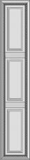 Aukštos durelės su 2 skersiniais DRH2-XGS