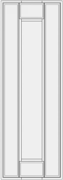 Framed slab with flat panel BLL-ES. Lygi blenda