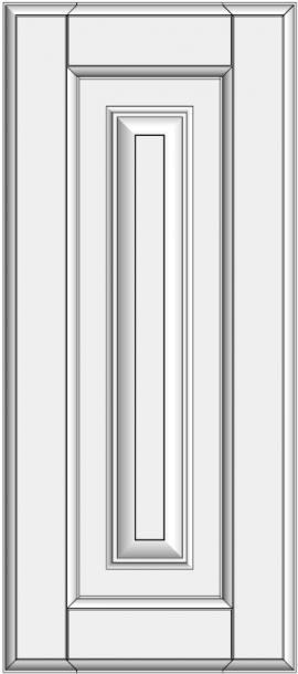 Framed slab with raised panel BLR-ED. Rėminė blenda konteineriui