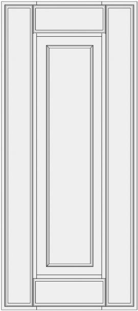Framed slab with raised panel BLR-ES. Konteinerio durelės