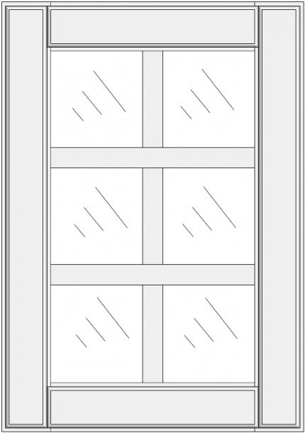 Mullion cabinet doors DJ-ES. Mullion cabinet doors DJ-ES