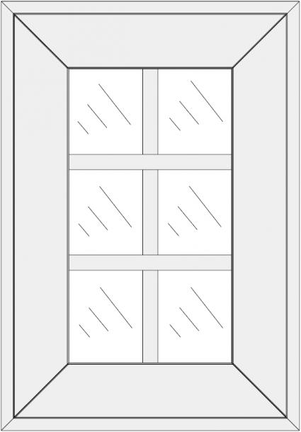 Mullion cabinet doors DJ-XJB. Su stiklajuostėm