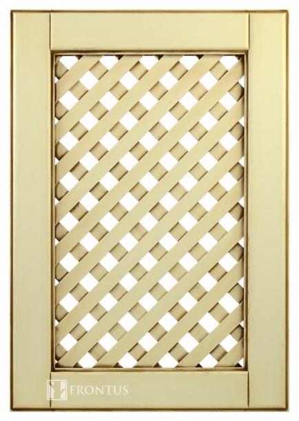 Cabinet doors with lattice DP-ES. Uosis. Dažytas ir patinuotas.