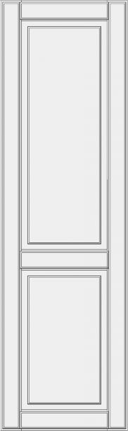 High cabinet doors with 1 crossbar DRH-ES. Marselio aukštos durelės spintai