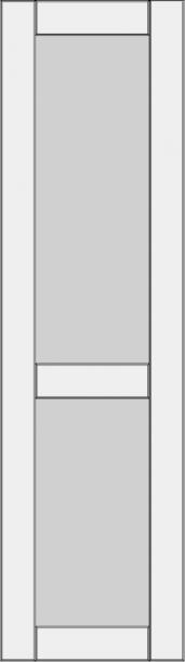 High cabinet doors with 1 crossbar DRH-GA. High cabinet doors with 1 crossbar DRH-GA