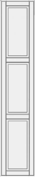 High cabinet doors with 2 crossbars DRH2-ES. aukštos spintos durelės
