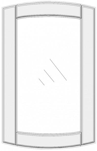 Convex cabinet doors for glass DSC-ES. Convex cabinet doors for glass DSC-ES