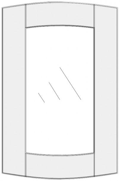 Convex cabinet doors for glass DSC-GA. Lenktų durelių brėžinys