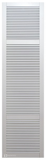 High louvered cabinet doors with 2 crossbars DZH2-GC. Uosis. Dažytas