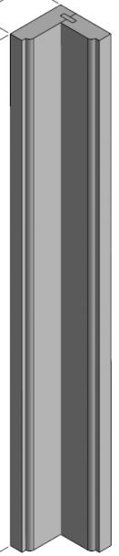Corner filler KD-ES. Kampinės Marselio detalė