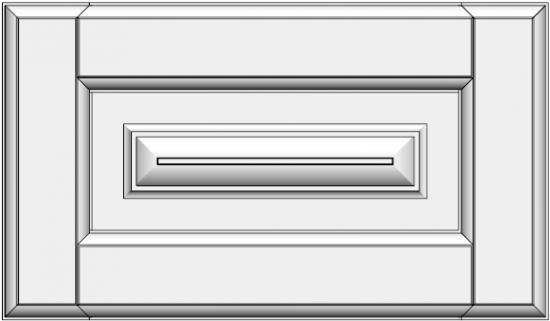 Framed drawer with raised panel STR-ED. Stalčiaus medinis fasadas STR-ED
