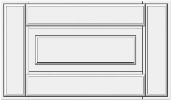 Framed drawer with raised panel STR-ES. Stalčiuko fasadas