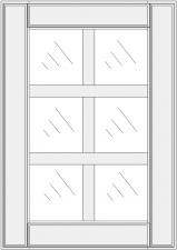 Mullion cabinet doors DJ-ES