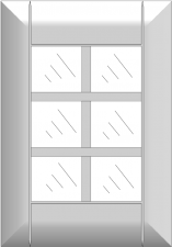 Mullion cabinet doors DJ-FMMA