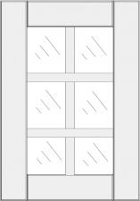 Mullion cabinet doors DJ-GA