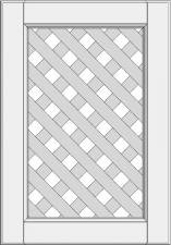 Cabinet doors with lattice DP-EE