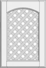 Cabinet doors with lattice DP-EMK