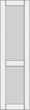 High cabinet doors with 1 crossbar DRH-GA