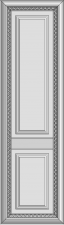 High cabinet doors with 1 crossbar DRH-XGS