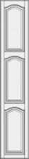 High cabinet doors with 2 crossbars DRH2-EMN