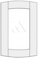 Lenktų durelių brėžinys