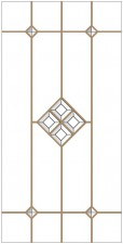 Decorative leaded glass DV-B2