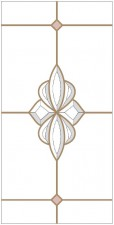 Decorative leaded glass DV-B3