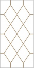Decorative leaded glass DV-P4