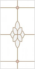 Decorative leaded glass DV- P8