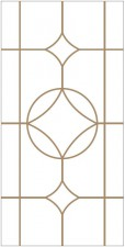 Decorative leaded glass DV-V4