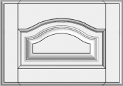 Framed arch drawer with raised panel STR-EMN