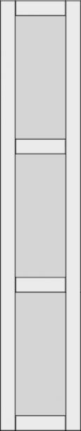 Высокий филенчатый фасад с 2 поперечными DRH2-GA. Высокий филенчатый фасад с 2 поперечными DRH2-GA