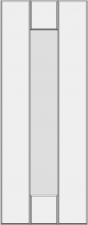 Вертикальный филенчатый фасад с прямой панелью BLL-GA