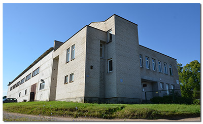 Frontus building. Širvintos, Lithuania